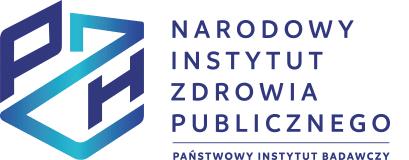 Narodowy Instytut Zdrowia Publicznego PZH – Państwowy Instytut Badawczy logotyp po lewej stronie niebiesko granatowa forma graficzna skrótu PZH po prawej stronie granatowa graficzna forma nazwy Narodowy Instytut Zdrowia Publicznego Państwowy Instytut Badawczy