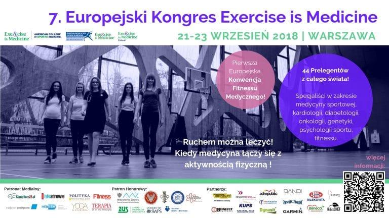 Zaproszenie na 7 Europejski Kongres Exercise is Medicine.