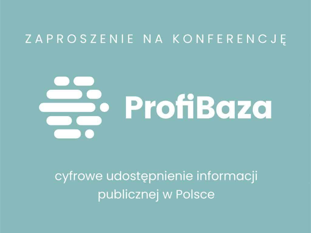 ProfiBaza zaproszenie na konferencję