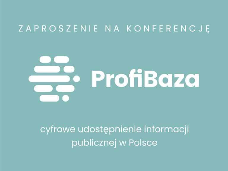 """Konferencja prasowa """"Projekt  ProfiBaza – działania początkowe"""""""