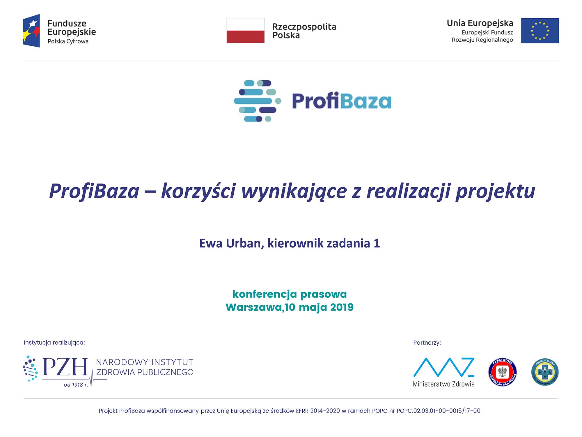 ProfiBaza - korzyści wynikające z realizacji projektu