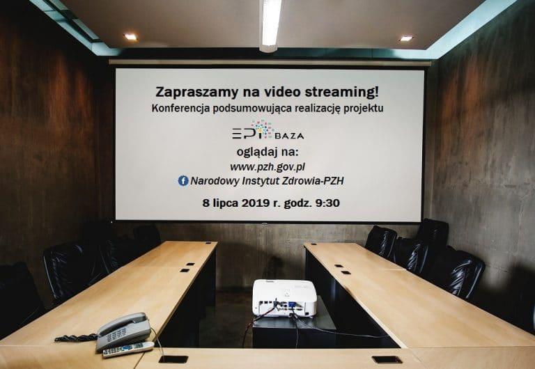 Zapraszamy na live streaming z konferencji podsumowującej realizację projektu EpiBaza.