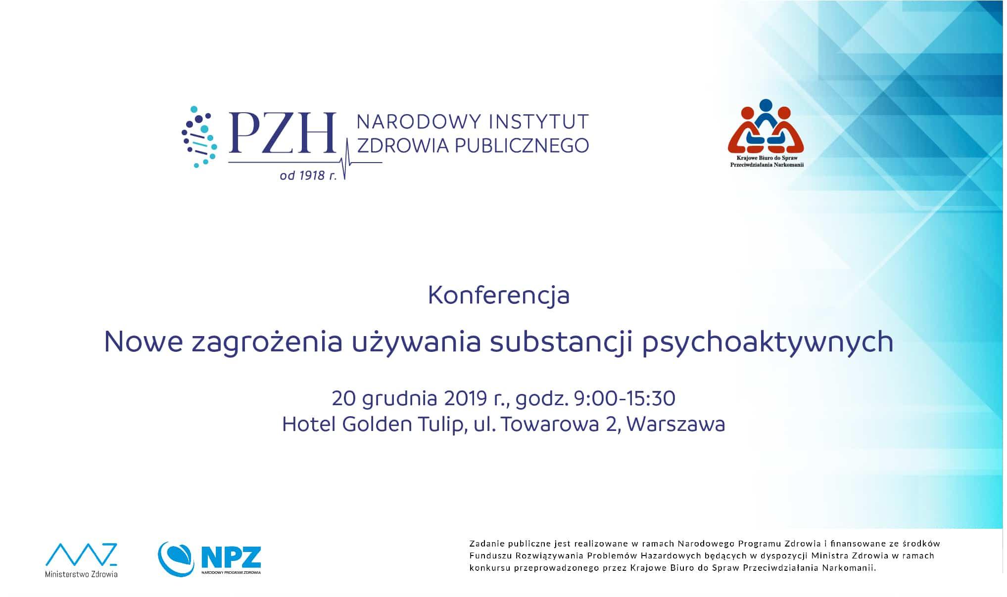 """Zaproszenie na konferencję """"Nowe zagrożenia używania substancji psychoaktywnych"""""""