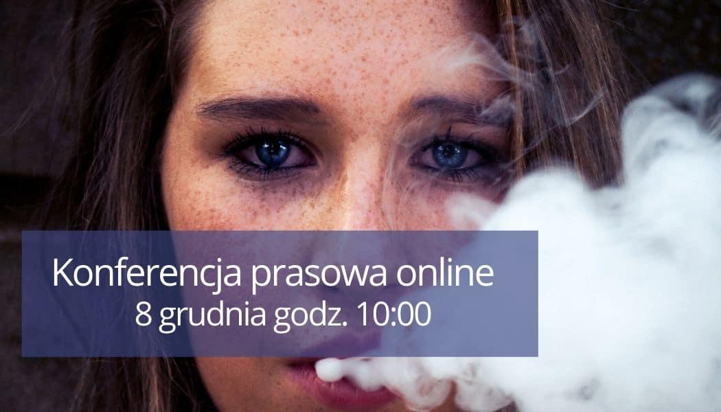 8 grudnia 2020 godz. 10:00 konferencja prasowa online – podsumowanie kampanii antynikotynowej
