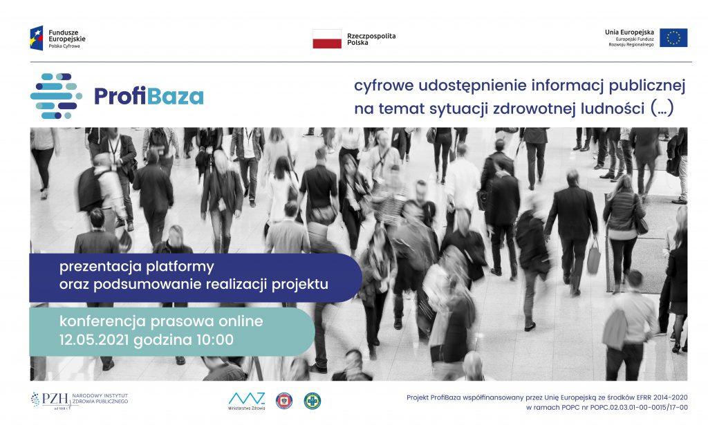 Konferencja prasowa online podsumowująca projekt ProfiBaza odbędzie się 12 maja 2021